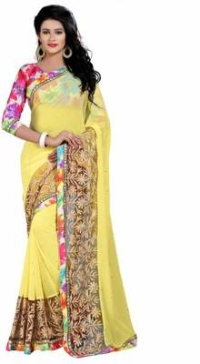 Navya Fashion Solid, Embellished, Self Design Fashion Chiffon Sari