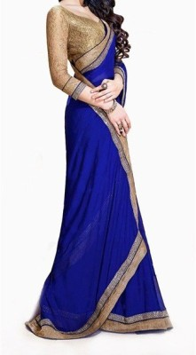 Lovit Self Design Bollywood Chiffon, Georgette Sari