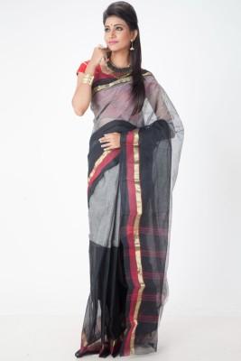 Jhumya Solid Tant Handloom Cambric Sari