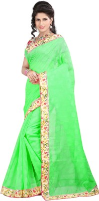 Ronaksilk Plain Fashion Brasso Sari