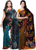 Fabdeal Printed Daily Wear Georgette Sar...