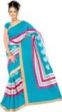 Moon Sarees Striped, Floral Print Bhagal...