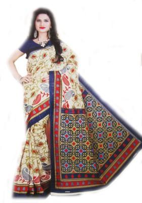 Geetanjali Printed Bhagalpuri Poly Silk Sari