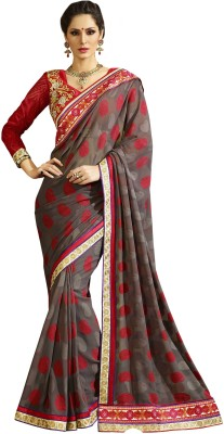 V-Style4u Embriodered Fashion Georgette Sari