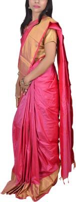 AnubandhSarees Solid Coimbatore Acrylic Wool Sari
