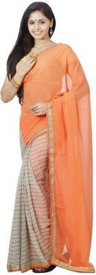 Fashion On Sky Self Design Bollywood Chiffon Sari