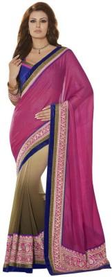 Looks & Likes Self Design Fashion Handloom Georgette Sari