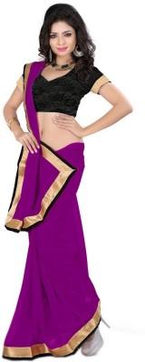 Aaradhya Shop Solid Fashion Chiffon Sari