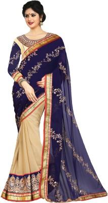 Dhnet Embriodered Fashion Georgette Sari