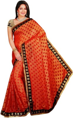 Shree Vaishnavi Embriodered Bollywood Pure Chiffon, Brasso Sari