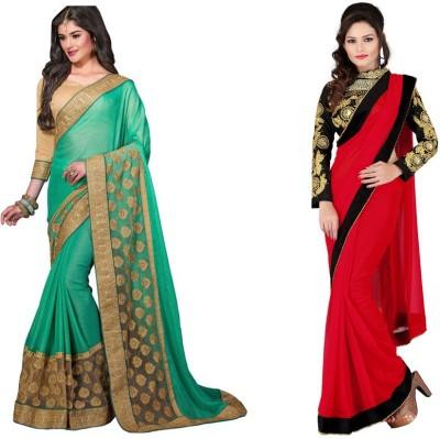 Red Carpet Embriodered Bollywood Chiffon, Chiffon Sari