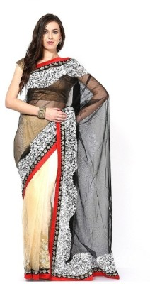 Lime Fashion Self Design Fashion Net Sari
