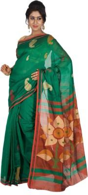 Aryika Woven Tant Handloom Silk Cotton Blend Sari