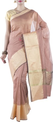 Banarasi Drapes Solid Chanderi Cotton Sari