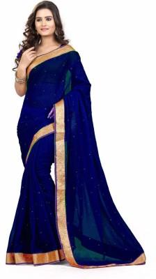 SareeStudio Plain Bollywood Chiffon Sari