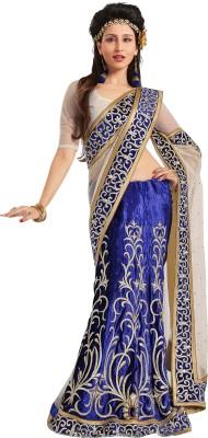 Paarampariya Embriodered Fashion Velvet, Net Sari