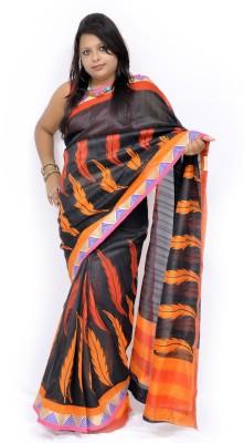 Gulmohaar Paisley Bhagalpuri Silk Sari