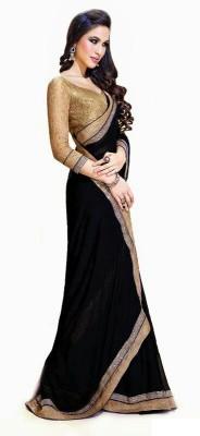 Hexo Solid Fashion Chiffon Sari