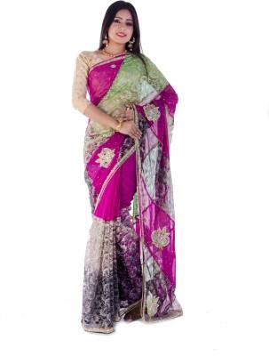 Aryya Self Design Fashion Net Sari