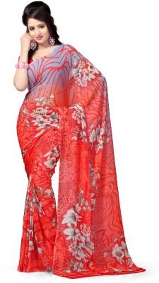 Vaamsi Floral Print Daily Wear Georgette Sari