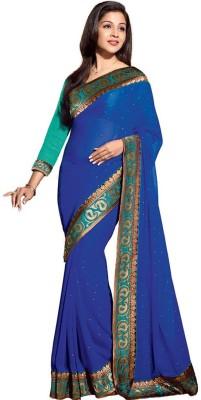 PRN Self Design Bollywood Handloom Chiffon Sari