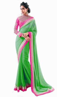 Usha Silk Mills Embriodered Fashion Chiffon Sari