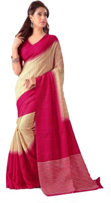 Chirmangal Geometric Print Fashion Jute Sari