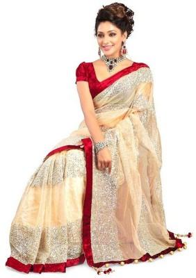 Cutie Fashion Self Design Fashion Net Sari