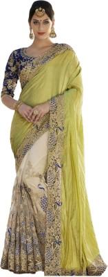 vandvshop Embriodered Lehenga Saree Silk Sari