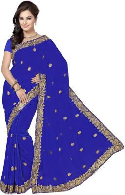 RA Embriodered Bollywood Georgette Sari