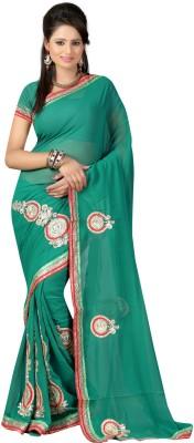 Ansu Fashion Self Design Fashion Georgette Sari