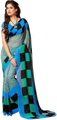 Dilwaa Self Design, Printed Fashion Georgette Sari
