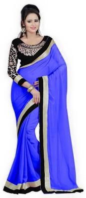 Shop Plaza Plain Daily Wear Georgette Sari