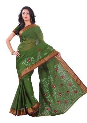 Dk Sarees Embriodered Gadwal Cotton Sari