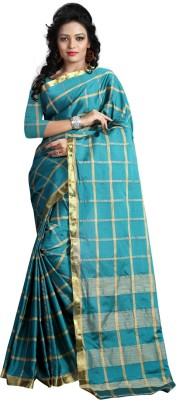 silvermoon Striped Kanjivaram Polycotton Sari