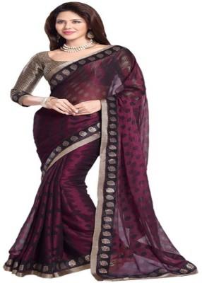 Aastha Textile Polka Print Bollywood Handloom Chiffon Sari