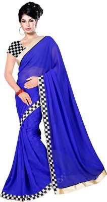 Gopal Retail Solid Bollywood Georgette Sari