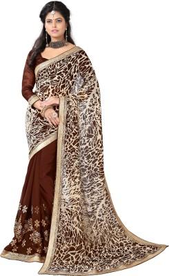 Vwaan Fashion Embriodered Bhagalpuri Georgette Sari