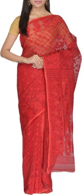 Rudrakshhh Embroidered Jamdani Handloom Cotton Saree(Multicolor) at flipkart