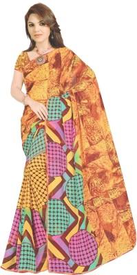 Aparna Creation Printed Leheria Georgette Sari