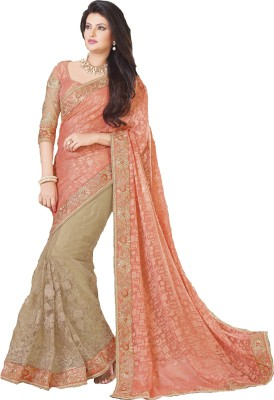Ambica saree Embriodered Fashion Brasso, Georgette Sari available at Flipkart for Rs.4349