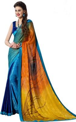 Shoponbit Printed Fashion Crepe Sari