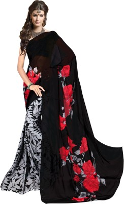KumarSarees Printed Fashion Pure Georgette Sari