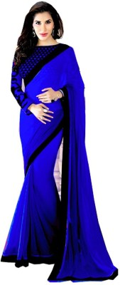 Trendyaaradhya Self Design Bollywood Georgette Sari