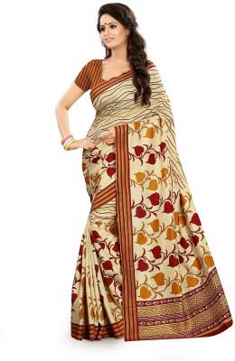 SGM Self Design, Floral Print, Checkered, Printed Fashion Art Silk Sari
