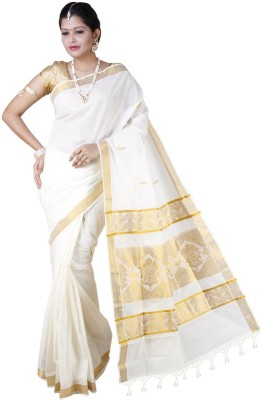 Farico Self Design Fashion Cotton Sari