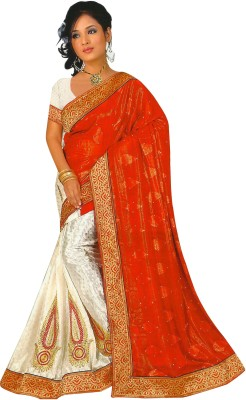 Essemm Embriodered Bollywood Georgette Sari