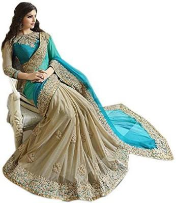 Veddeal Embriodered Fashion Georgette Sari