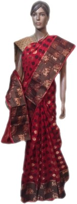 VanshikasCollections Animal Print Chanderi Chanderi Sari