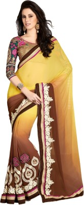 Alira Self Design Bollywood Chiffon Sari